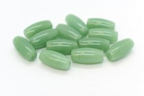 Green Aventurine (Natural) Rice/Oval Gemstone Beads - Large Hole