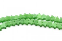 Green Fiber Optic (Cats Eye) Glass Beads - Butterfly