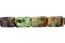 Green Copper Jasper (Natural) Flat Rectangle Gemstone Beads