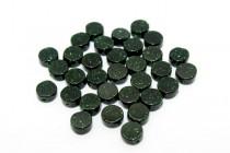Green Goldstone (Man Made) Coin Gemstone Beads