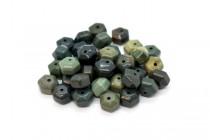 Green Imperial Jasper (Natural) Six Sided Drum Gemstone Beads
