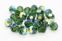 Green Turmaline AB 5000 Swarovski Elements Crystal Round Bead