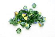 Green Turmaline AB Swarovski Crystal Bicone Beads 5301 - Factory Pack