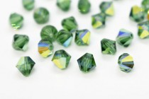 Green Turmaline AB 5301/5328  Swarovski Elements Crystal Bicone Beads
