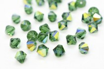 Green Turmaline AB 5301/5328 Swarovski Elements Crystal Bicone Bead