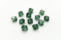 Green Turmaline Satin Swarovski Crystal Bicone Beads 5301/5328 - Factory Pack