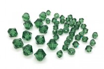 Green Turmaline Swarovski Crystal Bicone Beads 5301/5328 - Factory Pack