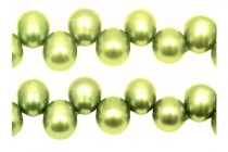 Top-Drilled Teardrop Freshwater Pearls - Yellow Green - A Grade