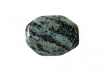 Zebra Jasper, Green, Natural, A Grade, Faceted Oval, Gemstone Bead