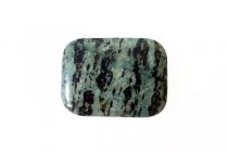 Zebra Jasper, Green, Natural, A Grade, Rectangle Gemstone Bead
