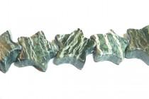 Green Zebra Jasper (Natural) Star Gemstone Beads