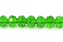 Green (tourmaline ) Chinese Crystal Rondelle Glass Beads