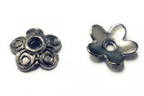 Gunmetal Plated Bead Caps - Flower