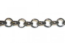 Gun Metal Over Iron Rolo Chain - 6mm