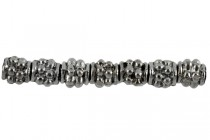 Gunmetal Plate over Pewter Spacer Bead - Studded Barrel