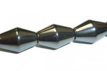 Hematine (Imitation Hematite) Bicone Beads