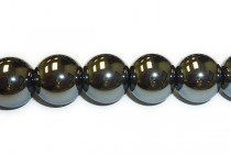 Hematite (Natural) Smooth Round Gemstone Beads - Large Hole