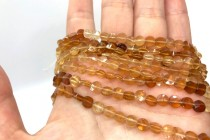 Hessonite Garnet (Natural) A Grade Faceted Dime Gemstone Beads