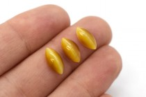 Honey Gold Tigers Eye (Natural) Marquise Gemstone Cabochon - AA Grade