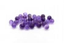 Amethyst (Natural) Smooth Round Gemstone Half Drilled Beads