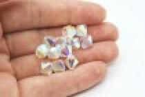 Crystal AB2x Swarovski Crystal Bicone Beads 5301/5328