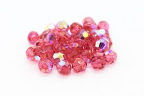 Indian Pink AB Swarovski Crystal Round Beads 5000