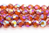 Indian Red AB2x Swarovski Crystal Round Beads 5000