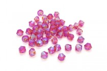 Indian Pink AB2X 5328 Swarovski Crystal Bicone
