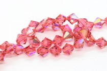 Indian Pink AB 5301/5328 Swarovski Elements Crystal Bicone Bead