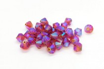 Indian Red AB2x Swarovski Crystal Bicone Beads 5301/5328 - Factory Pack