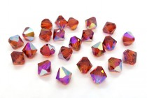 Indian Red AB 5301/5328 Swarovski Elements Crystal Bicone Bead