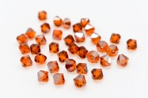 Indian Red Satin 5301 Swarovski Crystal Bicone Bead
