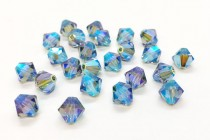 Indian Sapphire AB 2x 5301 Swarovski Elements Crystal Bicone Bead