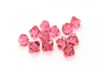Indian Pink Swarovski Crystal Top Drilled Bicone Pendants 6301