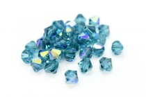 Indicolite AB Swarovski Crystal Bicone Beads 5301/5328 - Factory Pack