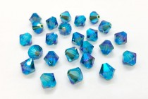 Indicolite AB2x 5301/5328 Swarovski Elements Crystal Bicone Bead