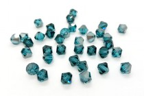Indicolite Satin 5301 Swarovski Crystal Bicone Bead