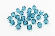 Indicolite Swarovski Crystal Bicone Beads 5301/5328 - Factory Pack Quantity
