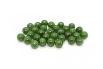 Nephrite/Canadian Jade (Natural) Smooth Round Gemstone Half Drilled Beads