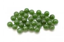 Nephrite/Canadian Jade (Natural) Round Gemstone Beads - Undrilled