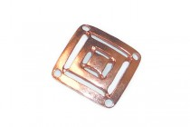 Copper Over Brass 4 Hole Square Link - 13mm