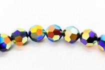Jet AB 2x 5000 Swarovski Crystal Round Bead