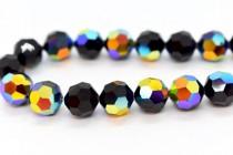 Jet AB Swarovski Crystal Round Beads 5000 - Factory Pack