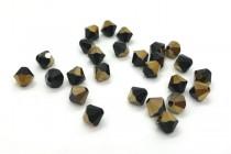Jet Dorado 5301/5328 Swarovski Elements Crystal Bicone Bead