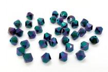 Jet Glacier Blue 2x 5301/5328 Swarovski Crystal Bicone