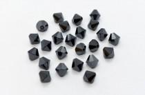 Jet Hematite AB2x 5301/5328 Swarovski Crystal Bicone Bead