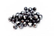 Jet Hematite 2x Swarovski Crystal Round Beads 5000 - Factory Pack
