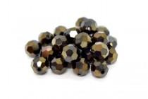 Jet Nut 2x Swarovski Crystal Round Beads 5000 - Factory Pack