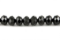 Black Chinese Crystal Rondelle Glass Beads - Opaque