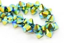 Jet AB2x Swarovski Crystal Top Drilled Bicone Pendants 6301